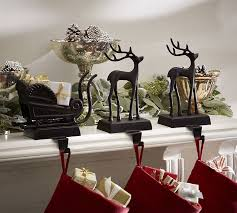 Santa's Sleigh Stocking Holders | Pottery Barn