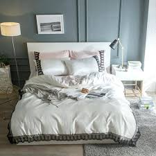 blue and white duvet silk girls bedding set king queen size double grey blue green pink blue and white duvet