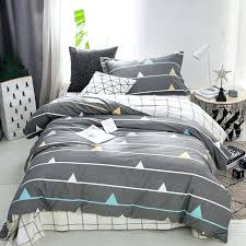 grey toddler bedding new geometric print kids children set cotton twin size duvet cover baby boy