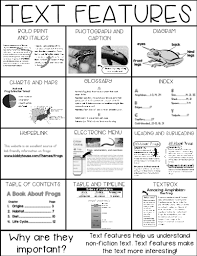 Nonfiction Text Features Anchor Chart Printable Text Features Lessons Tes Teach