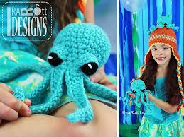 Crochet Octopus Hat Pattern Custom Inky The Octopus Hat And Toy Set PDF Crochet Pattern IraRott Inc