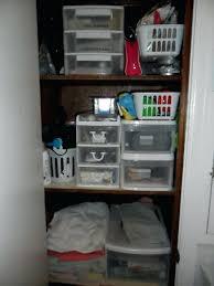 bathroom closet ideas organization solution for a deep bathroom closet simply frugal thanks closet