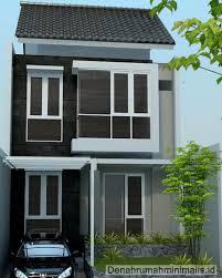 desain rumah minimalis 2 lantai type 21 modern dan mewah 2016