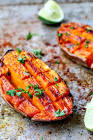 baked yams with lime and honey