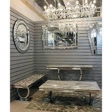 grey marble top modern coffee table