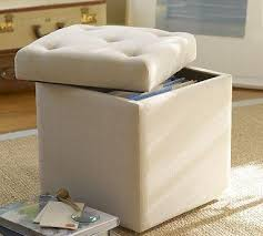 Alison Upholstered File Cube - Pottery Barn