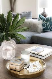 a round oak coffee table is beautifully