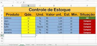 Planilhas De Controle De Estoque Dicas De Excel 2013 Planilha Controle De Estoque Usando Somase