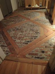 Brick Flooring In Kitchen Diy How To Install This Brick Floor Using 2 X 4s And Brick