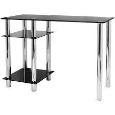glass computer desk with base unit shelf hagls82a jpg