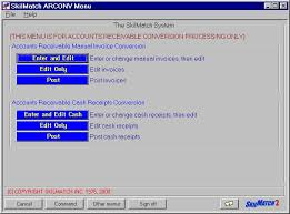 cash invoices skilmatch areconv arconv04 enter and edit cash