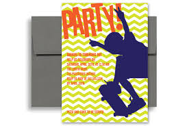 free birthday invitation template for kids skateboard party birthday invitation wording 5x7 in vertical kid