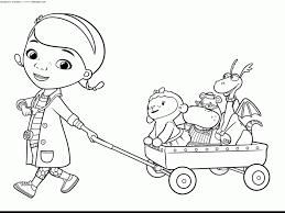 Doc Coloring Pages Excellent Mcstuffins Disney Free Printable