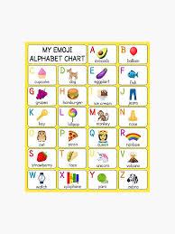 My Alphabet Chart My Emoji Alphabet Chart Yellow Photographic Print