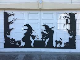 12 foot wide garage doorHalloween Garage Door Silhouette 6 Steps with Pictures