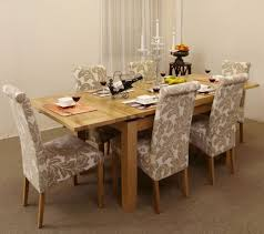 4ft 7 extending dining table 6 chagne if fabric chairs