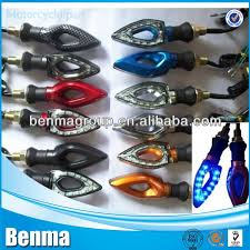 black shell motorbike led lights e mark certification motorcycle
