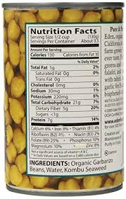 amazon eden organic garbanzo beans no salt added 15 ounce cans pack of 12 fresh peas and beans produce grocery gourmet food