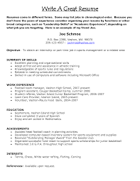 Sample Of A Great Resume