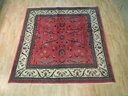 7 square rug red ivory hand knotted 7 x 7 square fine area rug 7 foot square rug