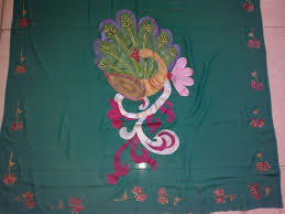 pea paintings on saree photo 15