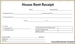 Free House Rent Receipt Format Amazing Rent Deposit Receipt Rental Payment Template 48 Form Free Uk R