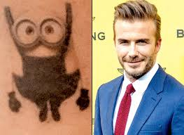 Image result for david beckham minion tattoo