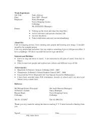 Resume Examples For Students In High School High School Student ...