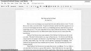 Compare Contrast Essay Rubric Evaluation Rubric For A Compare Contrast Essay Essay On