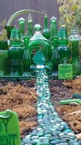6 mini emerald city fairy house made with green glassware
