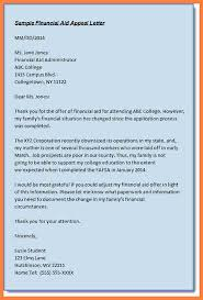 how to write a financial aid appeal letter financial aid appeal letter sample itaa09nd