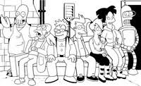 futurama coloring pages. Modren Pages Coloring Page Futurama With Pages O