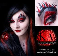 lady devil face makeup devil makeup with tutorial by katiealves on deviantart