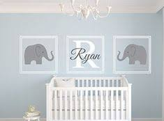 personalised name wall stickers cute elephant wall decal https www on elephant nursery wall art uk with navy blue and citron green kids wall art elephant love art print