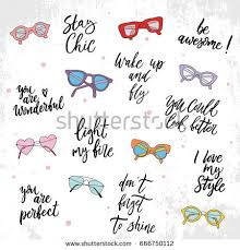 Beauty And Style Quotes Best Of Set Beauty Style Quotes Hand Drawn Stock Vector 24 Shutterstock