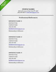 References For Resume Example Professinoal Reference Page Template