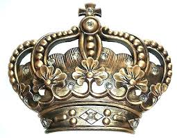 gold crown wall decor