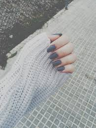 Gray nails 💕 discovered by essie tyler on We Heart It