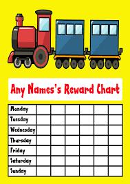 Yellow Train Reward Chart