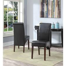 Simpli Home Avalon Tanners Brown Faux Leather Parsons Dining Chair - Faux leather dining room chairs