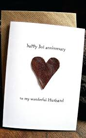 leather anniversary gifts for him wedding anniversary card husband traditional gift leather handmade keepsake 3 years leather anniversary gifts for