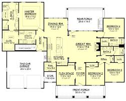 one story house plans 2500 square feet best of craftsman style house plan 4 beds 3 baths 2639 sq ft plan 430 104