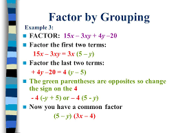 6 factor by grouping example 3