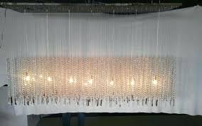 rectangular crystal chandelier canada floating prestige custom