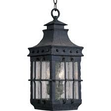 nantucket 3 light country forge outdoor hanging lantern