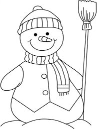 Small Picture Winter Coloring Pages Snowman Free Winter Coloring pages of