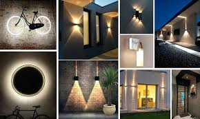 wall lighting ideas. Exterior Wall Lighting Outdoor Ideas Nice With Regard To Home Lamp . S