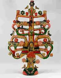 Attrib Aurelio Flores Mexican Pottery Tree of Life - Mar 25, 2017 | Bruneau  & Co. Auctioneers in RI