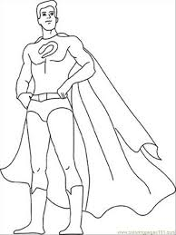Small Picture Coloring Pages Outline Of A Superhero Origin Story Cape Female