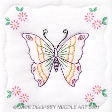 Quilt Squares - Embroidery Patterns & Kits - 123Stitch.com & Butterfly 9